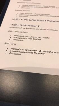 Dr. Arne Decramer spreekt op Internationaal Handcongres over behandeling van artrose van de pols