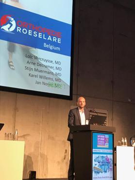 Dr. Loïc Vercruysse presenteert studie van Dr. Decramer over duimprothesen op internationaal handcongres