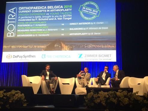 Dr. Philip Winnock de Grave gaat in debat met Prof. Johan Bellemans op Nationaal Congres over Knieprothese